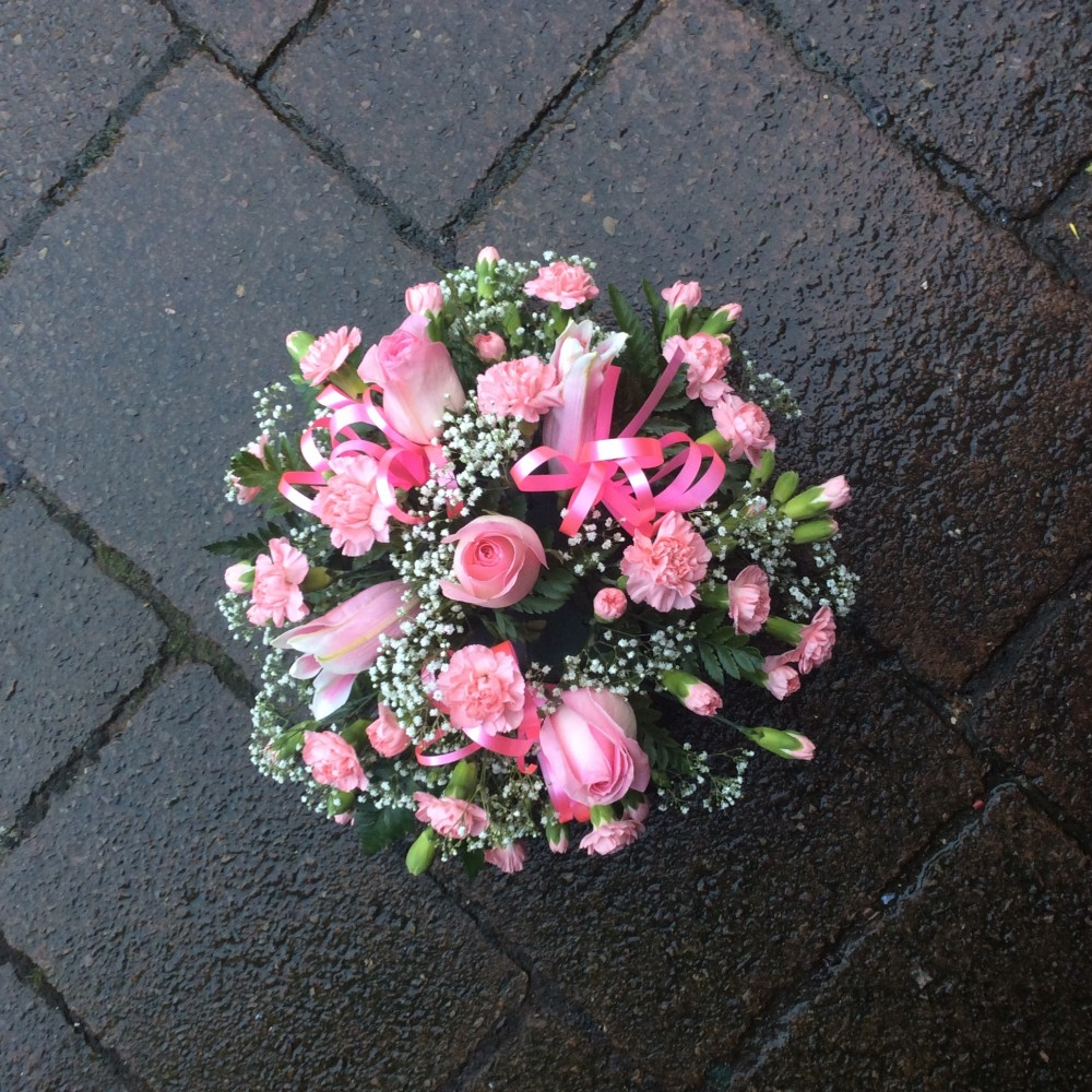 Pink Funeral Posy Octagon Flowers