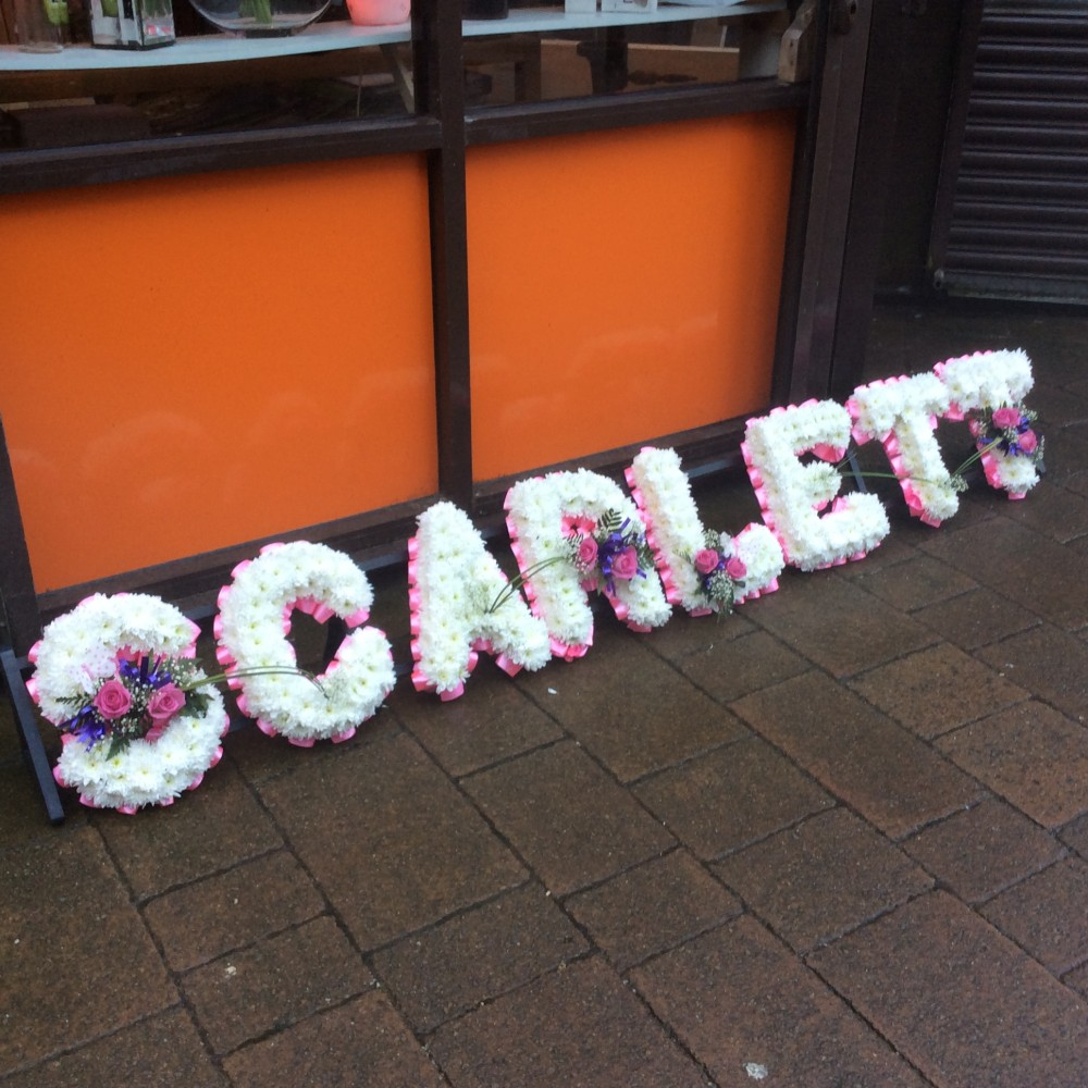 Funeral letters flowers bolton funeral letters flowers delivery by bespoke letter tribute izmirmasajfo