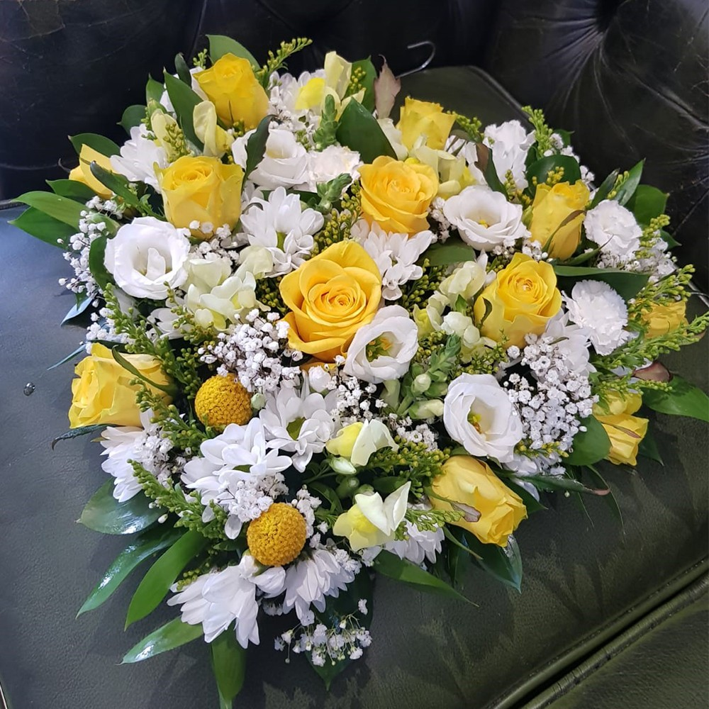Yellow and White Mixed Heart